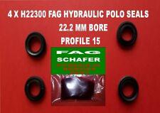 4 X  H22300  F.A.G (SCHAFER) HYDRAULIC POLO SEALS  22.2MM PROFILE 15