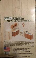 Greenleaf Wood Dollhouse Furniture Kit - Kitchen