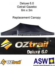 6m x 3m BLACK Gazebo Replacement Canopy suits OZTRAIL DELUXE 6.0 Frame Pavilion
