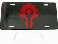 Horde World of Warcraft License Plate High Gloss
