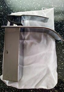 "Waterfall Bathroom Sink Taps Basin Mixer Tap Chrome Square Mono ""USED"""