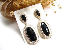 Kaki Statement Earrings In Black & White Crystal Drop Earrings