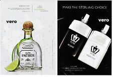 PATRON silver 2014 tequila alcohol ad clipping BRITISH STERLING fragrance H.I.M.