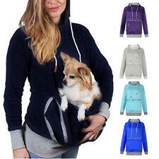 Толстовка кенгуру кошка собака перевозчик карман женский сумка питомца держатель длинные кофты