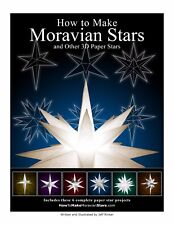 How to Make Paper Moravian Stars Book and 6 Star Kits Ready to Cut and Assemble