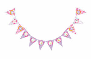 She's Going To Pop - Pink/Purple - Theme PERSONALIZED Baby Shower Pennant Banner