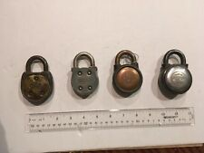 4 - Vintage Round Yale & Towne Mfg. Co. Padlock with NO keys - see photos