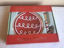 New In Package 2005 Fitz And Floyd Santa's Kitchen Snack Plate And Spreader