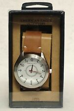 1 American Eagle Outfitters Mens BROWN Watch Brown Band White Inside