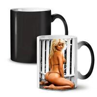 Sexy Bikini Woman NEW Colour Changing Tea Coffee Mug 11 oz | Wellcoda