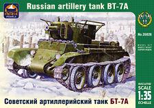 ARK MODELS 35026 RUSSIAN ARTILLERY TANK BT-7A WWII SCALE MODEL KIT 1/35 NEW