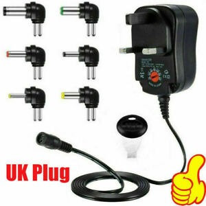 Universal AC Adapter Multi-Voltage Regulated Switch Replacement Power Supply UK