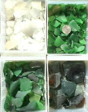 Frosted Surf-Tumbled Damaged Beach Sea Glass Mosaic Crafts 3-lb. Bulk Lot