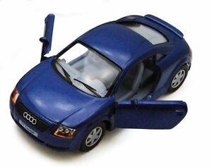 """Brand New 5"""" Kinsmart Audi TT Coupe Diecast Model Toy Car 1:32 Blue"""