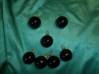 ~ 7 kleine Inge Glas® Christbaumkugeln Glas schwarz Weihnachtsbaumkugeln CBS ~