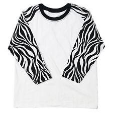 Mens Women 3/4 Sleeve Raglan T Shirt Top Baseball Jersey Round Tee Casual Shirts Flower 1 3161 MS