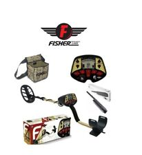"""Fisher F4 Metal Detector 11"""" DD Waterproof Coil Coin Relic Beach + Fpoint Pouch"""
