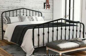 Novogratz 4044449N Bushwick Metal Bed, Size Queen - grey