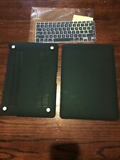 Macbook Air 13 (A1369/A1466) Deep Teal Color Hard Plastic Case And Keyboard Kit