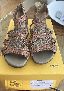 100% Authentic Fendi Vintage Handwoven Sandals Size 36 / US 7 $695