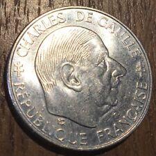 PIECE DE 1 FRANCS COMMÉMORATIVE CHARLES DE GAULLE 1988 (350)