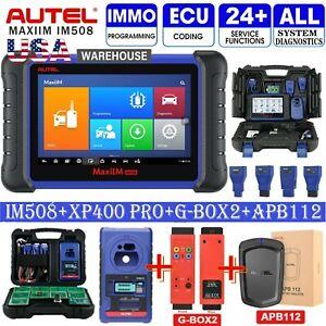 Autel MaxiIM IM508+XP400 Pro+G-BOX2+APB112 Full Kits Same IMMO Key as IM608PRO