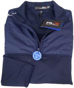 RLX Ralph Lauren Navy Blue Long Sleeve Wicking 1/4 Zip Pullover NWT NEW $168