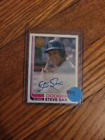 Steve Sax 2019 Topps Archives On Card AUTO Los Angeles Dodgers
