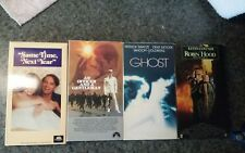 VHS tape lot of 4 Ghost Robin Hood Officer and a Gentleman Same Time Next Year