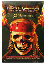 Pirates of the Caribbean Valentines's Day Cards 32 Count