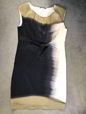 ELIETAHARI PURE SILK DRESS IN GOLD/GREY/WHITE TIE DYE WITH ELASTICATED NECK - 6