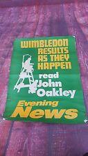 VINTAGE OLD POSTER Retrò Wimbledon Pubblicità Tennis memorabilla evening news