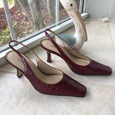 Karen Scott slingback heels shoes red size 7.5 leather