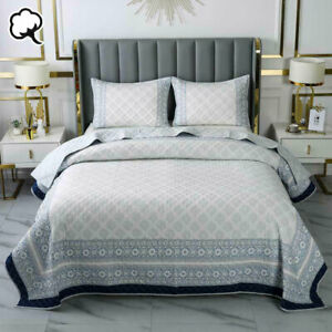 100% Cotton Lightly Quilted Coverlet Set Sofia Queen