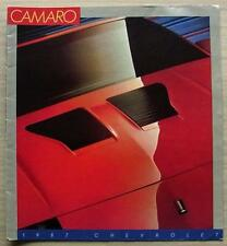 Chevrolet Camaro LF sales brochure 1987 #4641 IICO-Z Sport Coupé LT Z28