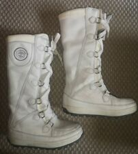 Women's Timberland Rugged Outdoor Snow Leather Long High Boots Size UK 6