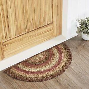 """VHC Brands Primitive 16.5""""x33"""" Accent Rug Orange Ginger Spice Blend Floor Decor"""