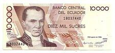 Ecuador   10000  sucres  1995   FDS  UNC    pick 127 b     lotto 3671