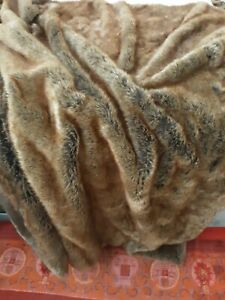 Restoration Hardware Luxe Faux Fur Throw 50x60
