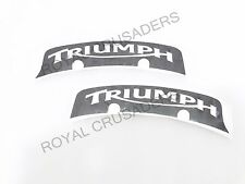BRAND NEW TRIUMPH NUMBER PLATE STICKERS SET OF 2 (CODE 1359)