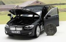 PERSONALISED PLATE GIFT 18cm 1/24 BLACK BMW 535i Model Boys Dad Present Boxed