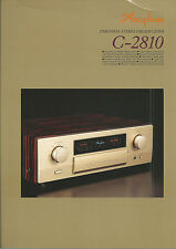 Accuphase C-2810 Katalog Prospekt Catalogue Datasheet Brochure