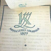 VTG Turkish Menu Konya Lezzet Lokantasi Souvenir Konyali 5 Digit Phone # Paper