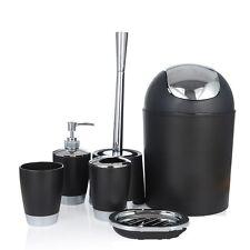 6 piece Bathroom Accessories, Soap Dish Bin Toothbrush Holder Soap Dispenser