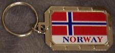 Nickel metal key ring National Flag Norway NEW