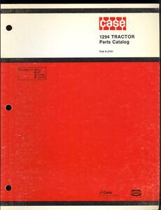 1984 J I CASE PARTS CATALOG  MODEL 1294 TRACTORS