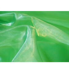 ORGANZA VOILE APPLE GREEN  FABRIC MATERIAL  ONLY £1.10 MT  MT Sold In 2 MTs