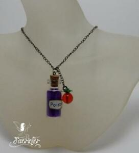 The Poison Apple necklace glass bottle Snow White Maleficent for an evil queen