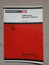 DAVID BROWN CASE 1190 TRACTOR OPERATORS MANUAL