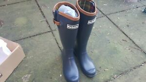 BARBOUR BLYTH WOMENS WELLINGTON BOOTS NAVY BRAND NEW Size 7